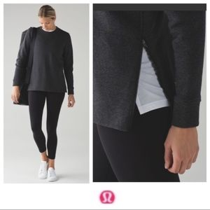 Lululemon Yes Fleece Pullover Yoga Sweatshirt